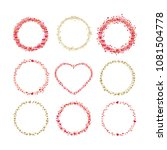 set of frames made from hearts. ... | Shutterstock .eps vector #1081504778