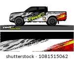 truck graphics vector. grunge... | Shutterstock .eps vector #1081515062