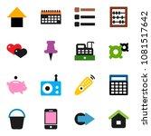 solid vector icon set   bucket...