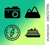 vector icon set about travel... | Shutterstock .eps vector #1081527056