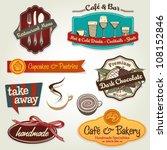 set of different retro label ... | Shutterstock .eps vector #108152846