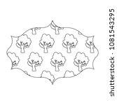 decorative arabic frame icon   Shutterstock .eps vector #1081543295