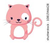 cute cat icon   Shutterstock .eps vector #1081546628