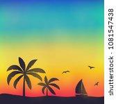 tropical paradise   summer... | Shutterstock .eps vector #1081547438
