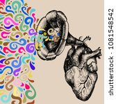 music of the heart. hand drawn...   Shutterstock .eps vector #1081548542