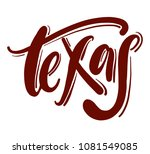 texas typography hand drawn... | Shutterstock .eps vector #1081549085