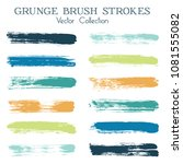 watercolor  ink or paint brush... | Shutterstock .eps vector #1081555082