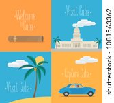 set of vector illustrations... | Shutterstock .eps vector #1081563362