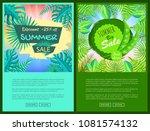discount summer sale web... | Shutterstock .eps vector #1081574132
