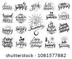 vector set of hand lettering... | Shutterstock .eps vector #1081577882