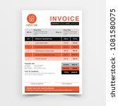 invoice template vector design. ... | Shutterstock .eps vector #1081580075