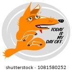 fox cartoon character with a... | Shutterstock .eps vector #1081580252