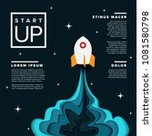 paper cut startup infographic... | Shutterstock .eps vector #1081580798