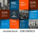 company profile template  ... | Shutterstock .eps vector #1081580825