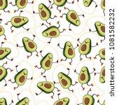 avocado seamless vector pattern ... | Shutterstock .eps vector #1081582232