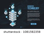 concept of big data processing  ... | Shutterstock .eps vector #1081582358