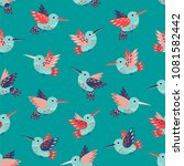 cute vintage seamless vector... | Shutterstock .eps vector #1081582442