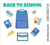 back to school vector... | Shutterstock .eps vector #1081582715