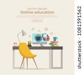 online education concept....   Shutterstock .eps vector #1081591562