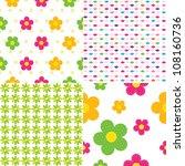 seamless baby pattern | Shutterstock .eps vector #108160736