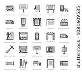 outdoor advertising  commercial ...   Shutterstock .eps vector #1081609535
