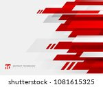 abstract technology geometric... | Shutterstock .eps vector #1081615325
