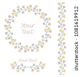 delicate pastel floral set with ... | Shutterstock .eps vector #1081619912