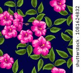 seamless pattern with bright... | Shutterstock .eps vector #1081624832
