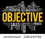 objective word cloud collage ... | Shutterstock .eps vector #1081643786