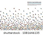 a crowd of people on a white... | Shutterstock .eps vector #1081646135