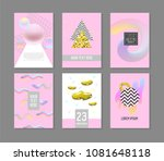 trendy abstract posters set... | Shutterstock .eps vector #1081648118