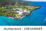 blue hawaii kailua kona aerial... | Shutterstock . vector #1081648685