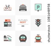 modern flat icons set of... | Shutterstock .eps vector #1081648958