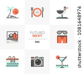 modern flat icons set of resort ... | Shutterstock .eps vector #1081648976