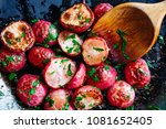 Beautiful Roasted Radishes In A ...