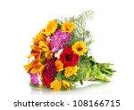 beautiful bouquet of bright... | Shutterstock . vector #108166715