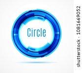 color circle. vector... | Shutterstock .eps vector #1081669052