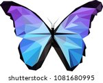 polinomial blue and purple... | Shutterstock .eps vector #1081680995