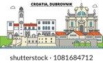 croatia  dubrovnik. city... | Shutterstock .eps vector #1081684712