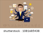 Multitasking Businessman With...