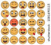set of emoticons. set of emoji. | Shutterstock .eps vector #1081690115