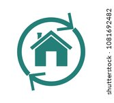 home reverse mortgage icon.... | Shutterstock .eps vector #1081692482