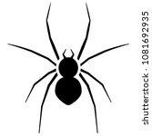 spider icon. pest control... | Shutterstock .eps vector #1081692935