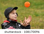 boy plays a ball | Shutterstock . vector #108170096