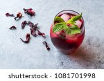 Cold Brew Hibiscus Tea With Ic...