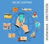 online shopping infographics... | Shutterstock .eps vector #1081703156