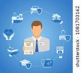 concept insurance services....   Shutterstock .eps vector #1081703162