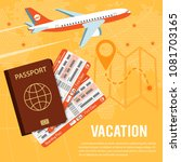 vacation and tourism concept... | Shutterstock .eps vector #1081703165