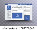 web page browser  concept of... | Shutterstock .eps vector #1081703342