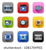 vector camera icons   photo... | Shutterstock .eps vector #1081704902